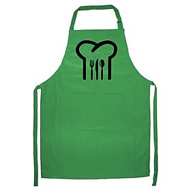 Tạp Dề Làm Bếp In Hình Mũ đầu bếp - VB001 – Màu Xanh