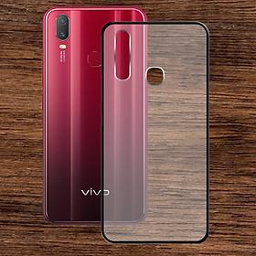 Ốp lưng Vivo Y11 - Bề mặt nhám chống vân tay, lưng cứng, viền TPU dẻo - 02138 - Hàng Chính Hãng