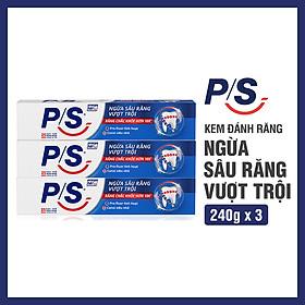 Combo 3 Kem Đánh Răng Ngừa Sâu Răng Vượt Trội 240g