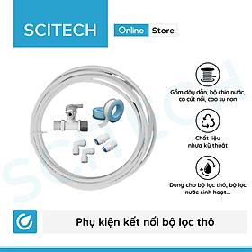 Bộ phụ kiện kết nối bộ lọc thô, bộ lọc nước sinh hoạt 10 inch ren 13/21 - Hàng chính hãng
