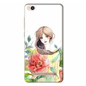 Ốp Lưng Dành Cho Điện Thoại Xiaomi Redmi 4A - Cô Gái Hoa Hồng