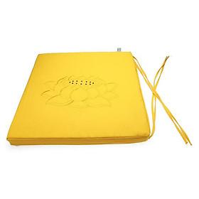 Nệm Ngồi Thiền Soft Decor 40035 Yellow Lotus Square Seat Pad (40 x 40 x 3.5 cm) - Vàng
