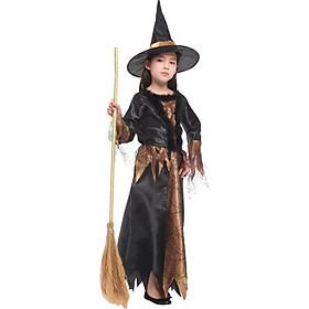Bộ váy mũ phù thủy hóa trang Halloween cho bé G-0197