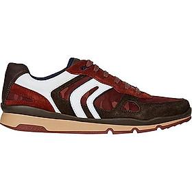 Giày Sneakers Nam GEOX U SANDFORD A BROWN/DK RED