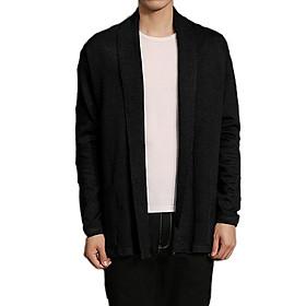 Áo cardigan len nam dáng dài