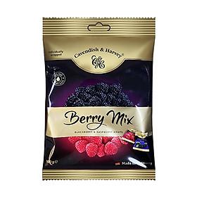 Kẹo trái cây Đức vị MÂM XÔI HỖN HỢP - BERRY MIX Cavendish & Harvey dạng gói 100g