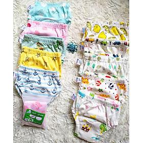 Combo 10 Quần bỏ bỉm vải cotton 6 lớp siêu thấm, thoáng mát hiệu Goodmama cho Bé trai từ 5-17 kg.-1