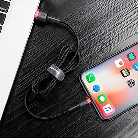 Cáp sạc nhanh, truyền dữ liệu tốc độ cao Baseus Cafule Lightning cho iPhone/ iPad ( 2.4A, Sạc nhanh, Siêu bền)