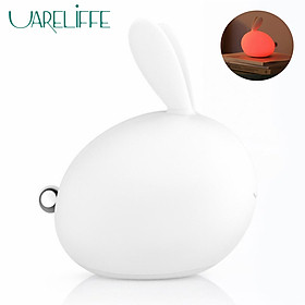 Uareliffe Bunny Lamp Colorful LED Warm Light USB Rechargeable Silicone Night Light Soft Touch Reading Lamp Bedside Light For Home Child Use
