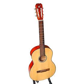 Đàn guitar classic SV650C - Tặng 3 phụ kiện - mặt gỗ thông nguyên tấm màu gỗ