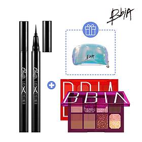 Combo Sắc Sảo: Last Pen Eyeliner 0.6g #01 Sharpen Black + 01 Final Palette tặng 01 Pouch
