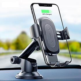 Giá đỡ kiêm Sạc không dây Qi cho ô tô xe hơi Baseus Vacuum 2 in 1 hỗ trợ sạc nhanh cho điện thoại smartPhone (chuẩn Qi, kèm giá đỡ Gravity,10W) - Hàng chính hãng