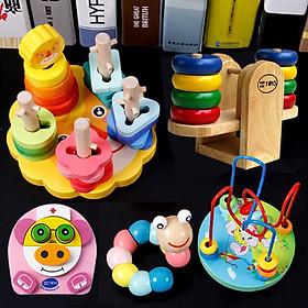 Combo 5 món đồ chơi cho bé phát triển trí tuệ