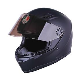 Mũ Bảo Hiểm Đôi Đẹp không họa tiết_ Fullface AGU Trơn 01