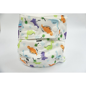 Bỉm vải siêu chống tràn Goodmama an toàn, hiệu quả mẫu Khủng long bé