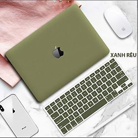 Combo, ốp kèm phủ phím dành cho Macbook đủ dòng màu xanh rêu tuyệt đẹp