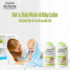 Gel Tắm Gội Cho Bé Corine de Farme Hair & Body Wash 250ml