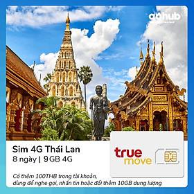 Gohub - Sim 4G Thái Lan Truemove 9GB (GỌI + DATA + Public Wifi)