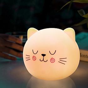 Đèn ngủ mèo dễ thương đổi màu mẫu ngẫu nhiên