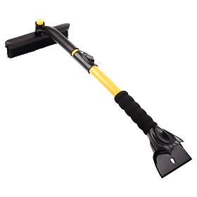 Fun line snow Qingling AX-10 three-in-one lock telescopic snow shovel strengthen metal rod 72-93cm long double row brush SUV car defrosting de-icing snow removal tool