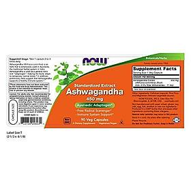Viên Uống Now Ashwagandha (Withania somnifera) 450mg