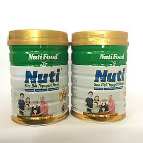 Combo 2 hộp Sữa bột nguyên kem của NutiFood dinh dưỡng hàng ngày cho mọi người (900g/hộp)