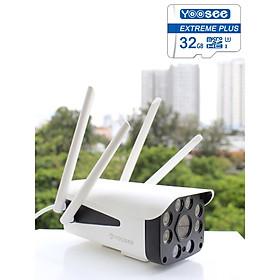 Camera Ip Wifi Ngoài Trời Yoosee GW-218S  Full HD 1080P  Và Thẻ Nhớ Yoosee 32GB - Hàng Chính Hãng