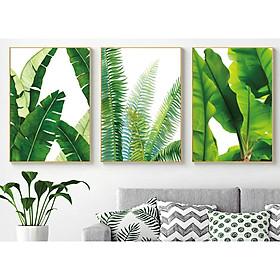 Bộ tranh 3 Bức - Tranh treo tường  phòng khách- Tranh 3D Hiện Đại HD 38357  /Gỗ MDF cao cấp phủ kim sa/ Chống ẩm mốc, mối mọt/Bo viền góc tròn