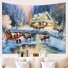 3D Christmas Wall Hangings Carpet Tapestry Xmas Wall Decoration