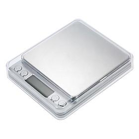 Cân Điện Tử Nhà Bếp Mini (3000g/0.1g) - Tặng Kèm 2 Khay Nhựa