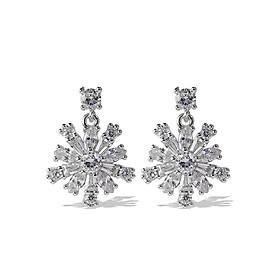 Bông tai bông tuyết bạc s925 đính đá lấp lánh