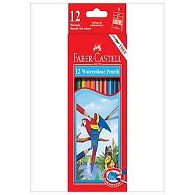 Faber-Castell-114462-Chì Màu Nước Parrot - 12 Màu Dài