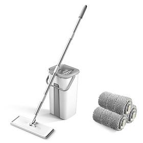 Bộ cây lau nhà và thùng giặt thông minh siêu sạch với thảm lau dự phòng