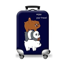 Túi bọc bảo vệ vali -Áo vỏ bọc vali - 3 Con Gấu Xanh Đen