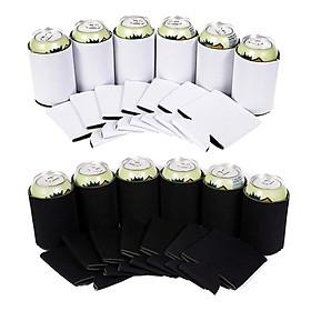40x Neoprene Cooling Beer Can Cover Drinks Bottle Tin Cooler Sleeve Holder Cover