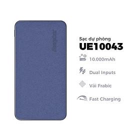 Sạc dự phòng Energizer 10000mAh - UE10043 - tích hợp 2 cổng input (micro USB và USB-C) - Hàng chính hãng
