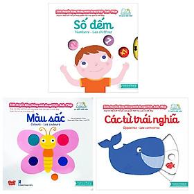 Combo Sách Chuyển Động - Song Ngữ Anh - Việt: Màu Sắc + Số Đếm + Các Từ Trái Nghĩa