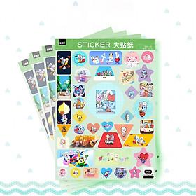 Set 4 tấm dán Sticker BT21 BTS