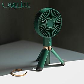 Uareliffe Mini Hand-held Tripod Fan USB Rechargeable Desktop Fan 3 Speed Control Low Noise Fan Summer Air Cooler Pocket Fan Lightweight Fan For Office Home Outdoor