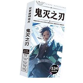 Postcard Kimetsu No Yaiba Diệt Thanh gươm diệt quỷ Diệt quỷ cứu nhân 534 ảnh dạng hộp có ảnh dán sticker lomo bưu thiếp tặng hình  thiết kế Vcone
