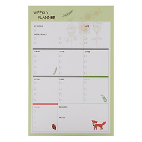 Tập Kế Hoạch Ghi Chú Tuần - Weekly Planner