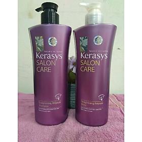 Bộ dầu gội/xả mềm mượt Kerasys Salon Care Straightening Hàn Quốc 600ml - Dành cho tóc thẳng tặng kèm móc khoá-7