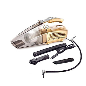 Máy Hút Bụi Ô Tô Đa Năng (4 chức năng hút bụi, đèn pin, bơm xe, đo áp suất lốp) Tặng kèm bộ chuyển đổi 12V