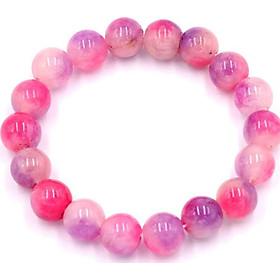 Vòng đeo tay đá thạch anh hồng tím 10 ly 18 hạt - Chuỗi hạt đeo tay đá phong thủy - Sản phẩm kích thước nhỏ phù hợp cho nữ