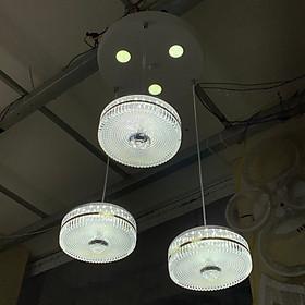 Đèn thả pha lê YONNE sang trọng 3 màu ánh sáng sang trọng hiện đại