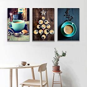 Set 3 tranh Canvas quán cà phê 40x60 cm