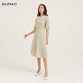 Đầm tay dài phối cổ GUMAC DB120