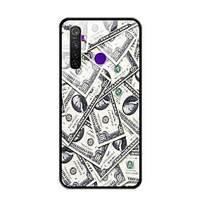 Ốp Lưng Kính Cường Lực cho Điện thoại Realme 5 Pro - 0355 DOLLAR02 - Hàng Chính Hãng