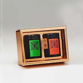 Hai hộp trà biếu đặc sản núi cao Max Art Fine Tea (Trà Lý Sơn 50g + Trà hương mật ong 20g