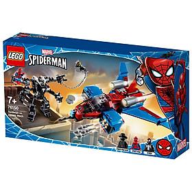 Mô Hình Lắp Ráp LEGO SUPERHEROES Máy Bay Phản Lực Của Người Nhện 76150 ( 371 Chi tiết)